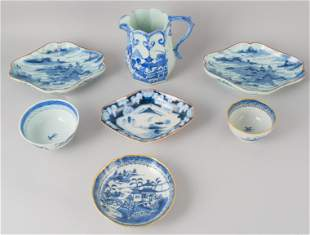 Lot of Chinese Blue and White Porcelain Articles