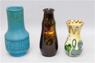 3 Piece Art Pottery Lot