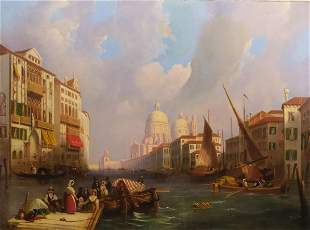 Canaletto School, Venice, The Grand Canal