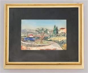 Fiaschi Pietra Dura Landscape Plaque