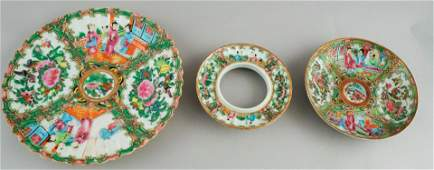 Lot of Antique Chinese Rose Medallion Porcelain