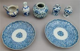 Group of Chinese Blue and White Articles