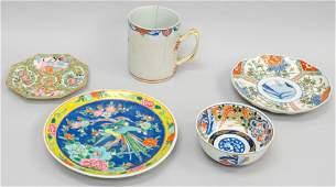5 Piece Lot of Antique Asian Porcelain