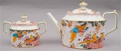 Royal Crown Derby Porcelain Teapot & Sugar Bowl