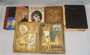 Lot of 5 Antique Scrapbooks