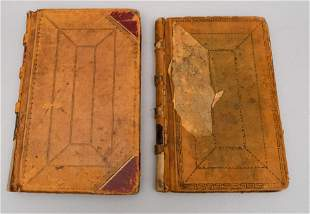2 Ledger Books With Drawings of Ku Klux Klan Etc.