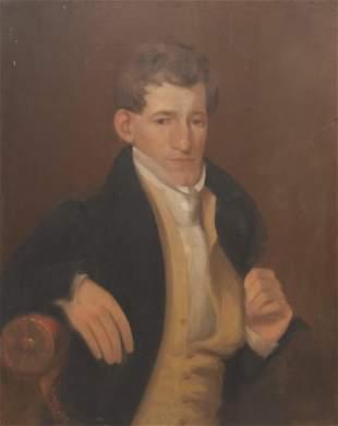 American School, Bust Portrait of a Handsome Gent