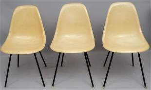 Set of 3 Herman Miller Eames Chairs
