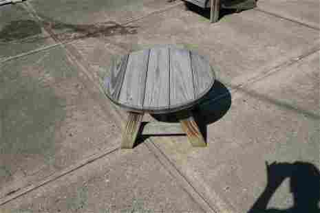 Small Wooden Outdoor Side Table