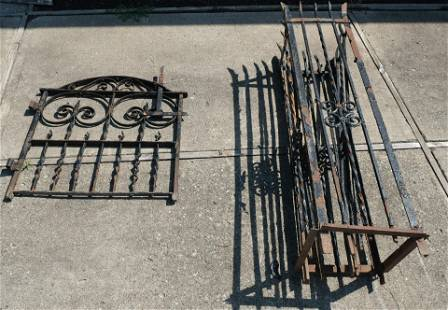 Lot of Two Wrought Iron Gate Pieces