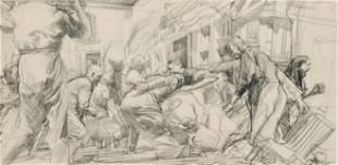 "Jerome Witkin, ""Street Scene"""