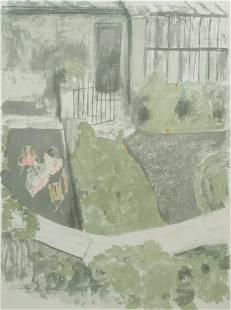 "Edouard Vuillard, ""Le Jardin Devant L'Atalier"""