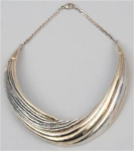 Sterling N.S. Bar-On Choker Necklace Modernist