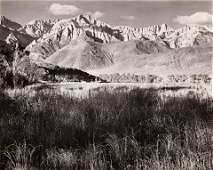 ANSEL ADAMS - Sierra Nevada from Lone Pine, CA, 1944