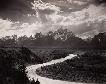 ANSEL ADAMS - The Tetons and Snake River, Grand Teton