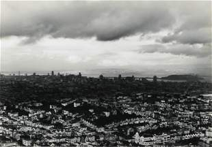 PIRKLE JONES - View of San Francisco in the Rain, 1952