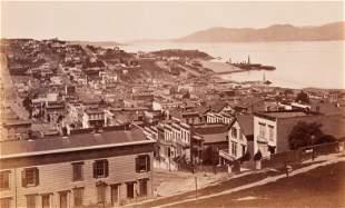 CARLETON WATKINS - The Golden Gate from Telegraph Hill,