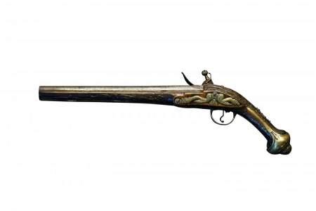 A circa 1810, Ottoman Empire, silver pistol