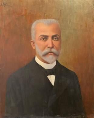 A portrait of a Corfiot gentleman, signed in Greek