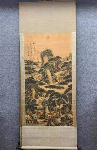 A CHINESE PAINTING, THE LANDSCAPES, TANG YIN MARKED
