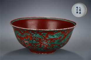 Chinese Green-glazed Bowl