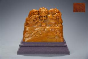 Chinese Shoushan Tianhuang Stone Seal