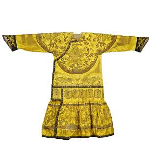 A piece of Dragon Robe of Qing Dynasty Emperor