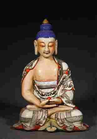 A QING DYNASTY INK COLOR BHAISAJYAGURU