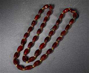 A WARRING STATES AGATE NECKLACE