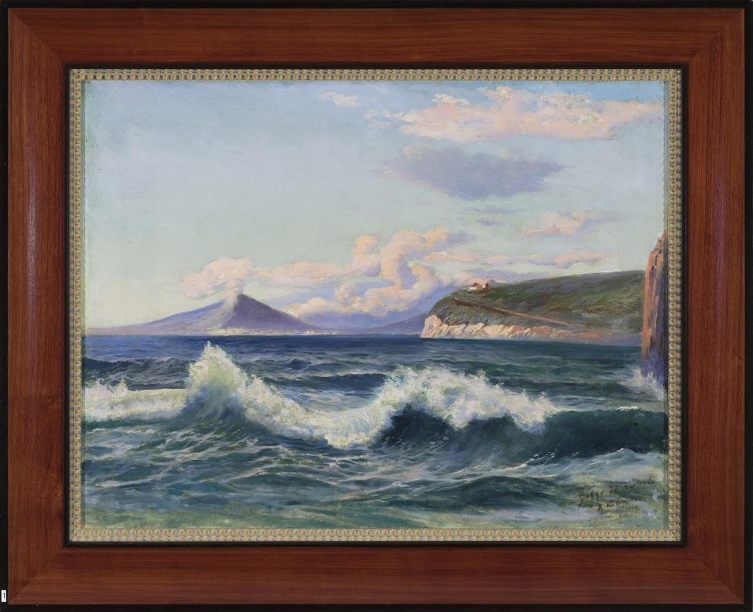 Amandus Adamson (Estonian) Napoli bay oil painting