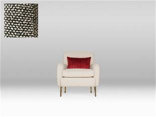 Andre Chair - Grey Boucle Fabric / Aged Brass Legs