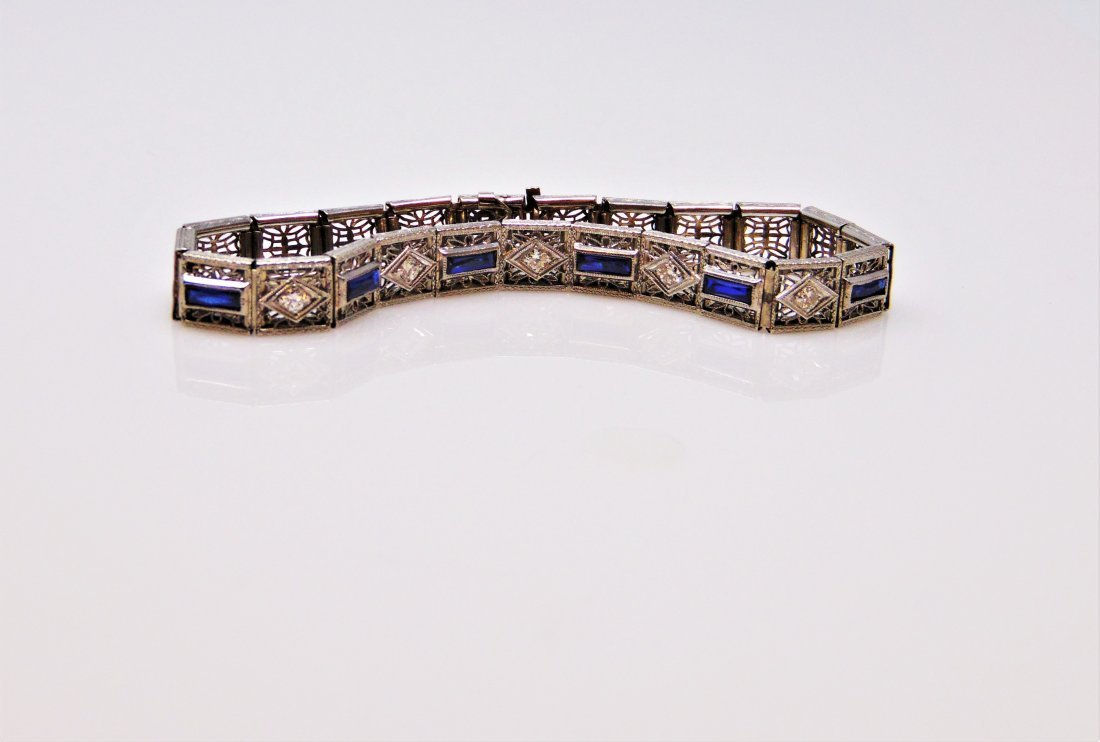 Impossibly Well Preserved Sapphire ESTATE  Bracelet