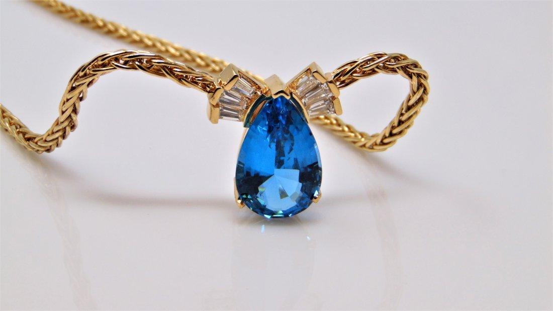 GIANT Blue Topaz Custom Handmade Necklace