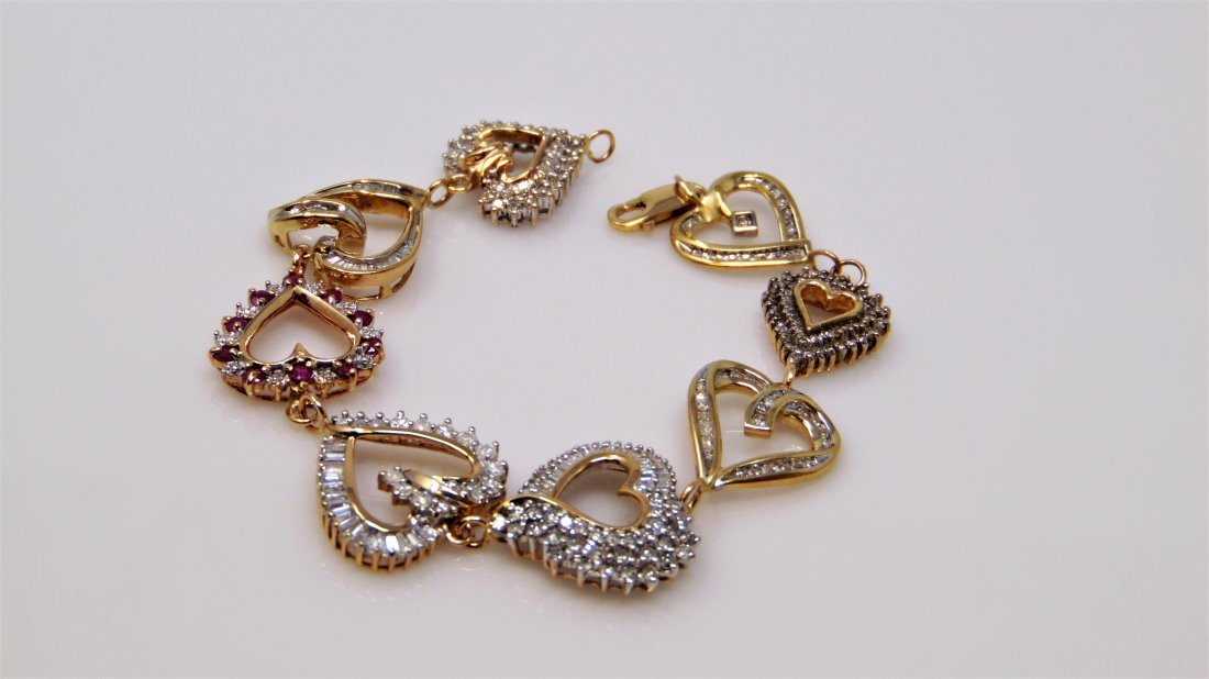 Lots of  Love in the Custom Crafted  Diamond Bracelet