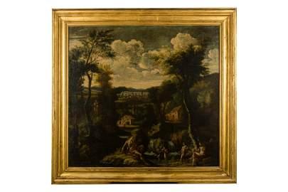 (1730 - 1800) Arcadian river landscape