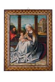 Jan Van Dornicke (school of)(1470 - 1527) Virgin Mary