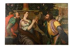 Carlo Caliari (school of)(1528 - 1588) Susanna and the
