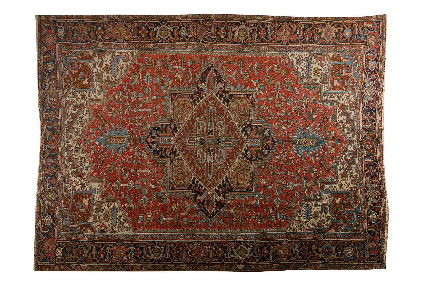 Persian heriz vintage carpet, early 20th century