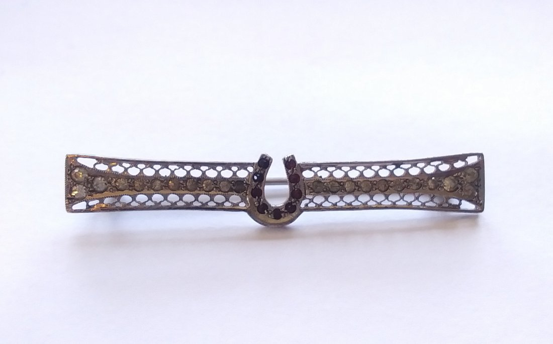 Sterling Silver Antique Horseshoe Bar pin
