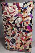 Crazy quilt Topper Beautiful colors