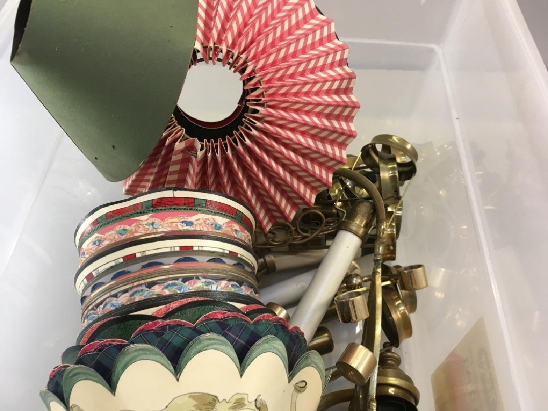 ASSORTED BRASS ACCESSORIES & LAMP SHADES - 2