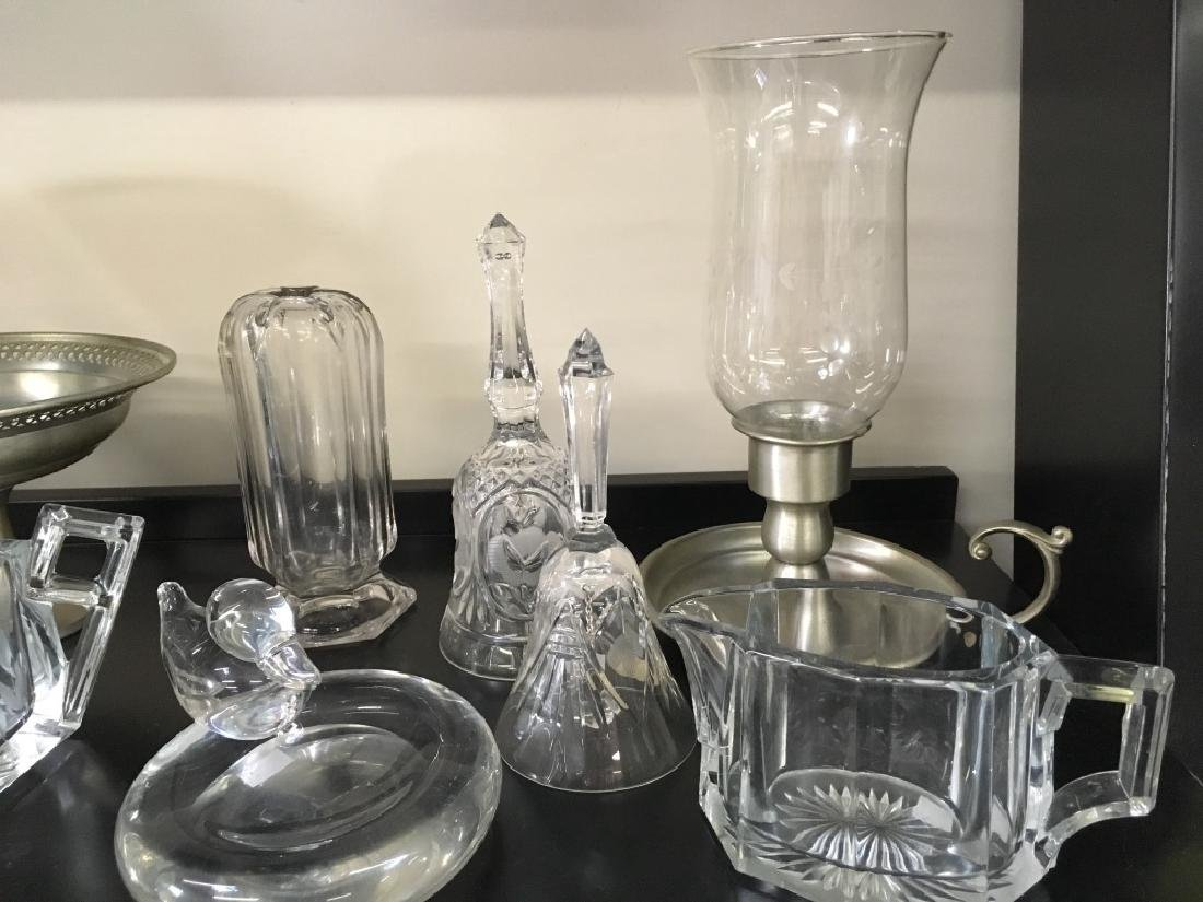 TEN PCS OF CRYSTAL, GLASS & PEWTER - 4