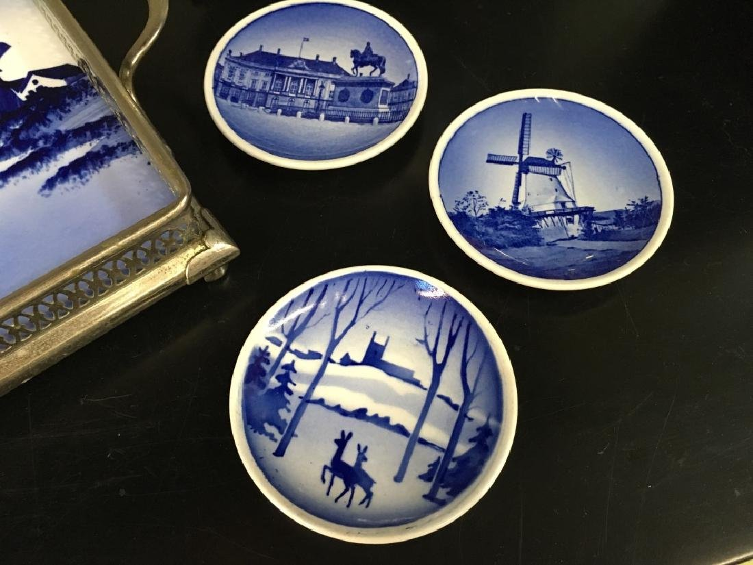 SIX PCS OF BLUE & WHITE DELFT POTTERY - 5