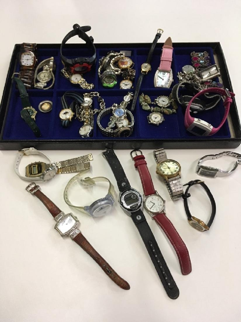 TRAY LOT OF WATCHES