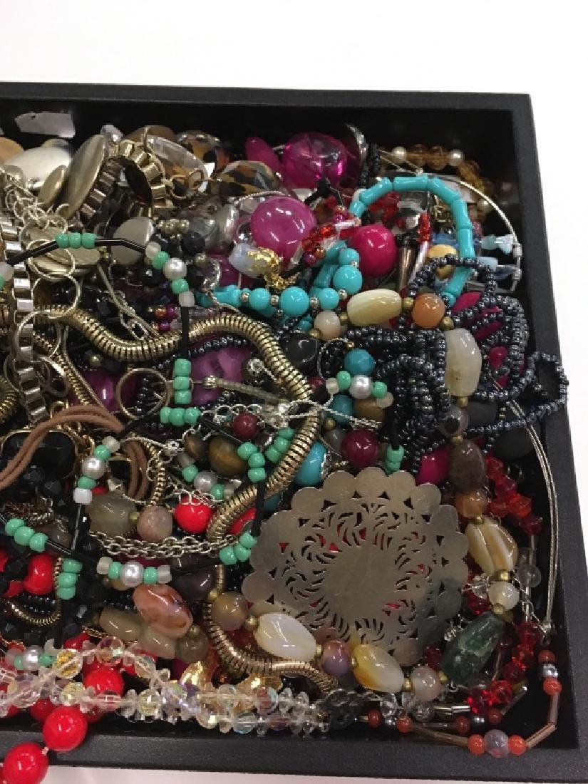 LARGE TRAY LOT OF COSTUME JEWELRY - 4