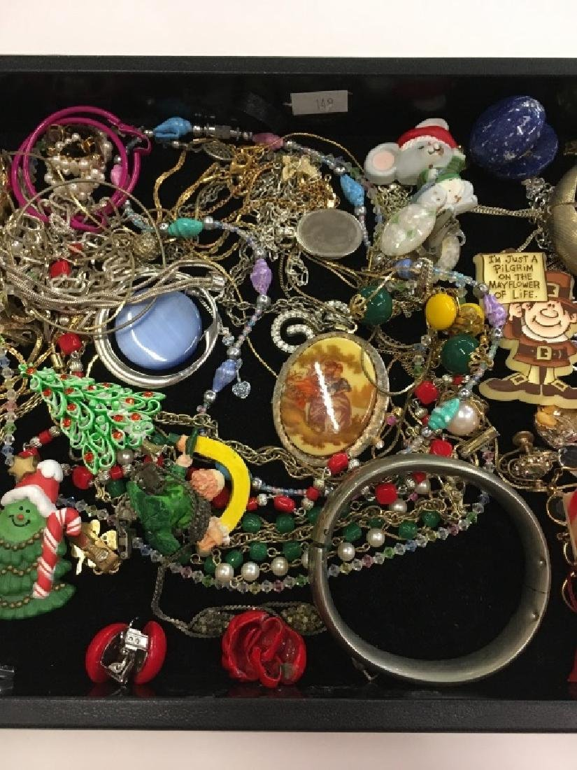 TRAY LOT OF COSTUME JEWELRY - 4