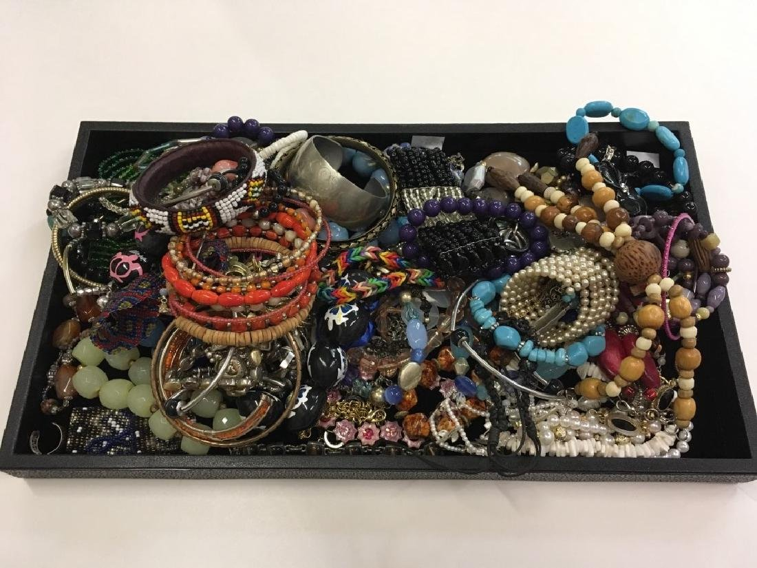 LARGE TRAY LOT OF COSTUME JEWELRY - 2