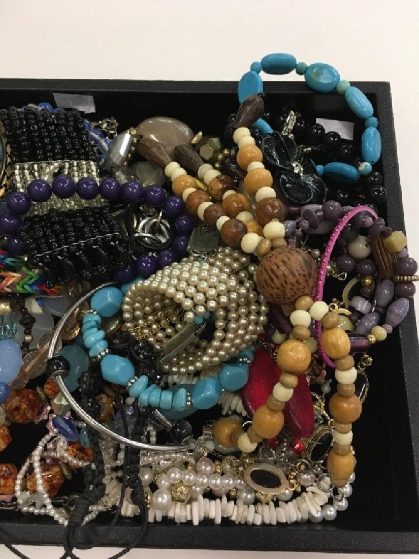 LARGE TRAY LOT OF COSTUME JEWELRY - 5