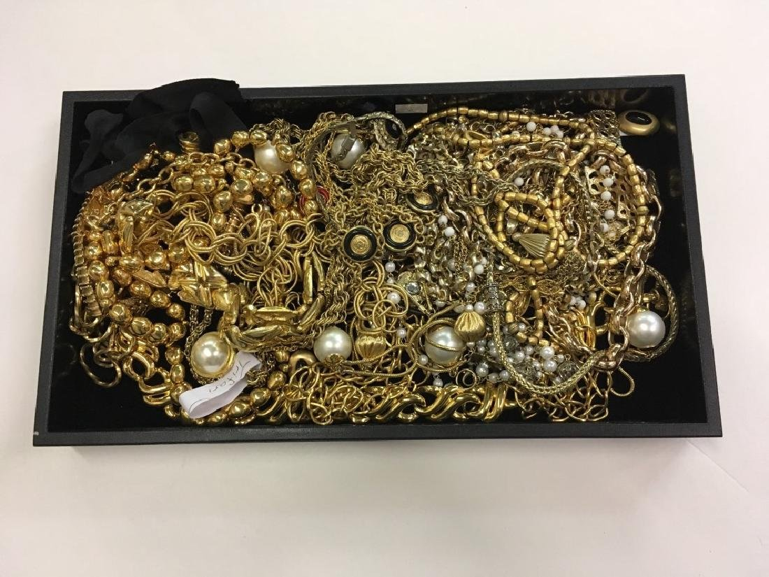 TRAY LOT OF COSTUME JEWELRY - 2