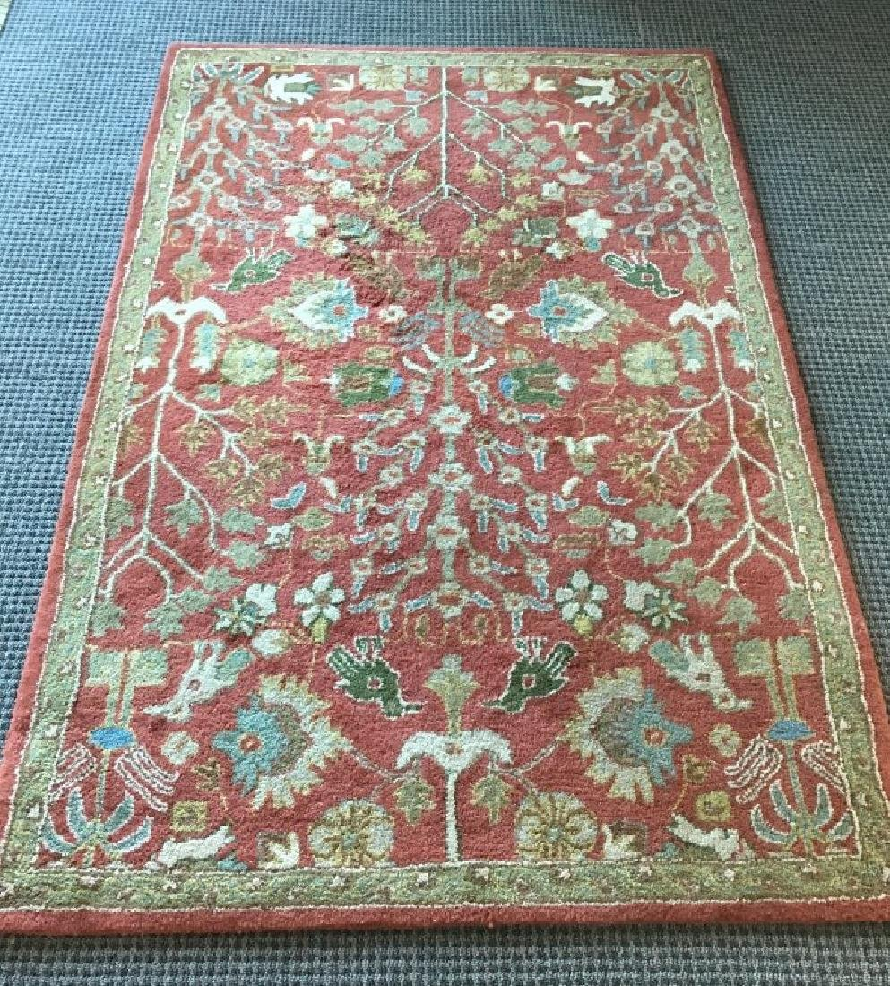 WOOL RUG MADE IN INDIA 4' X 6'